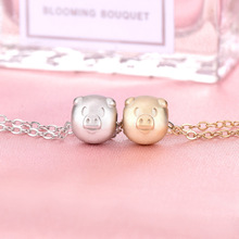 925 sterling silver original innovative new year gift pig pendant set chain this transfer zodiac necklace
