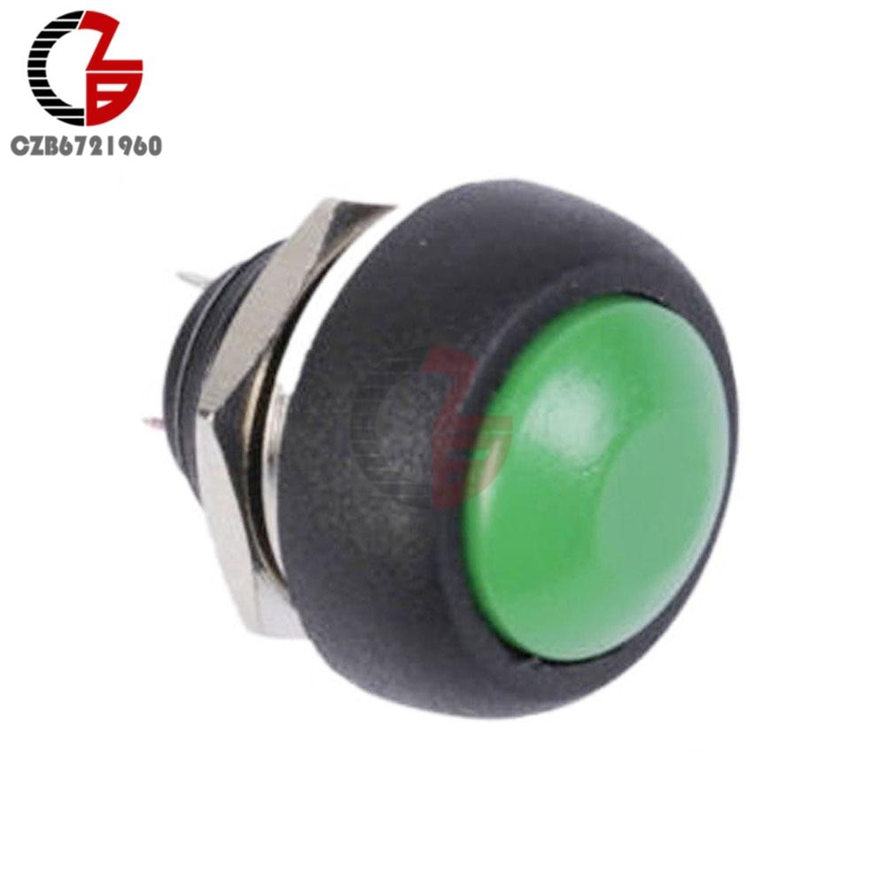 4Pcs Mini 12mm Waterproof Momentary ON//OFF Push Button Round Switch