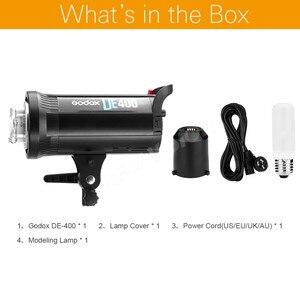 Image 2 - Godox DE400 Studio di Luce del Flash 400 W GN65 Compatto Strobe Illuminazione Fotografia Lampada Testa 400Ws