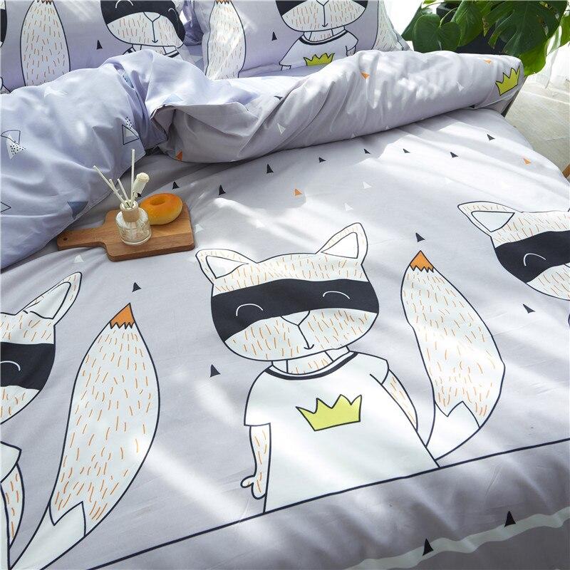 4pc Mr cat beddingset duvet cover sheet pillowcase