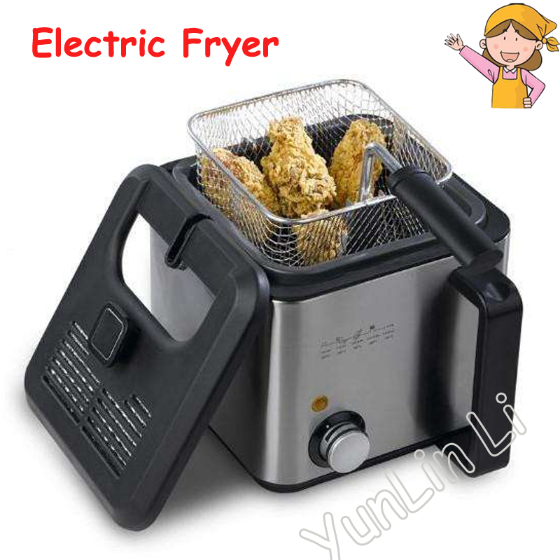 Electric Fryer Constant Temperature Electric Deep Fryer Household Multifunction Small Fryer Smokeless Single-tank Fryer DF-27A 220v multifunction intelligent electric deep fryer french fries machine oil free and smokeless with timer function for home use