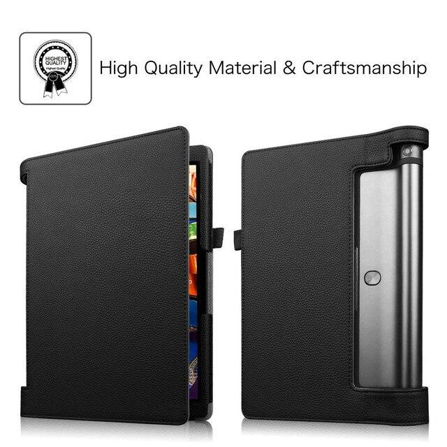 Ultra Slim Funda YOGA Tab 3 10 YT3-X50M YT3-X50f Case Cover for Lenovo YOGA Tab 3 10.1 X50F X50M 10.1 Flip Flio Case ZA0H0064US 2
