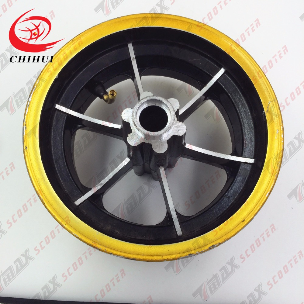 Scooter Wheel Hubs 130/50-8 Rear Wheel Rims Aluminium Alloy Wheel Hub for 130/50-8 Tubeless Tyre (Scooter Parts & Accessories)