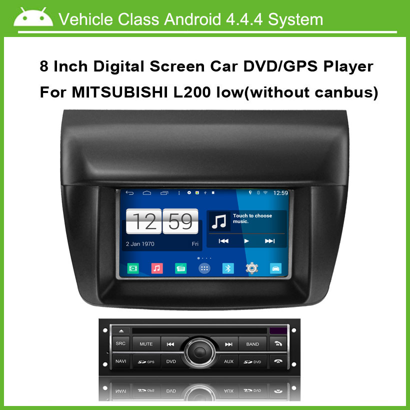 Android Car DVD Video Player for Mitsubishi L200 low Version Car GPS Multi touch Capacitive screen,1024*600 high resolution.