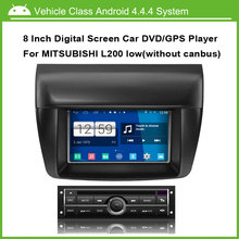 Android Car DVD Video Player for Mitsubishi L200 low Version Car GPS Multi-touch Capacitive screen,1024*600 high resolution.