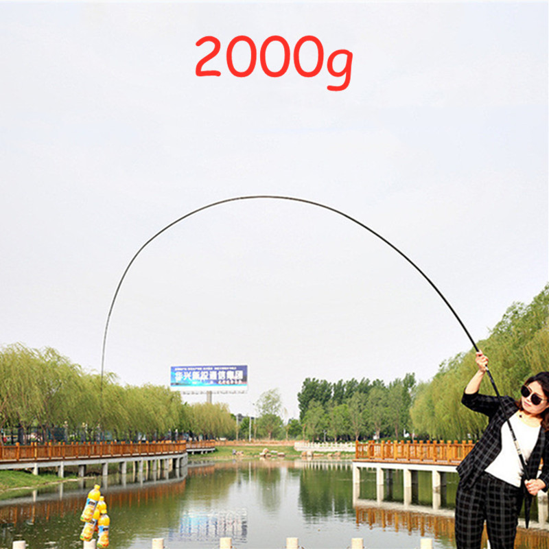 Carbon Fiber Fishing Rod Telescopic Casting Rod Carp Fishing Pole 3.6m/4.5m/5.4m/6.3m/7.2m Ultra-Light Super Hard Portable PPQZP