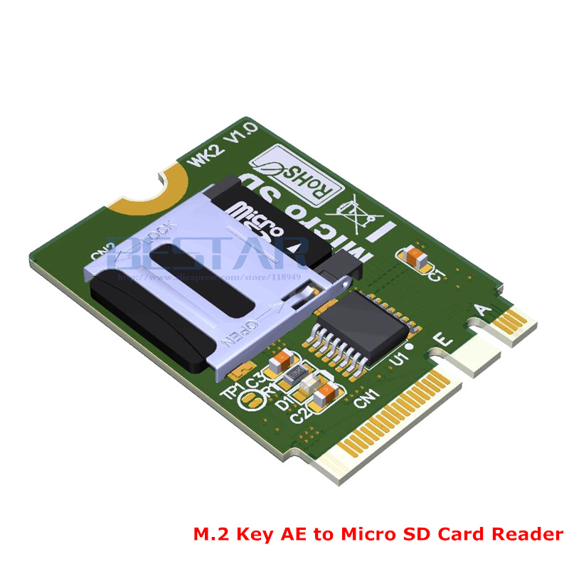 2018 NEW M2 NGFF key AE A+E To Micro SD SDHC SDXC TF card Reader T-Flash Card M.2 A.E Adapter cards WK2 non standard die cut plastic combo cards die cut greeting card one big card with 3 mini key tag card