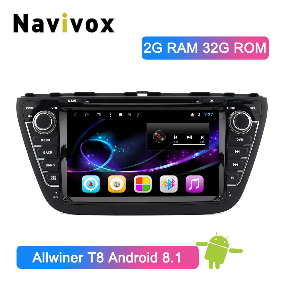 Radio multimédia de voiture Navivox Android 8.1 pour Suzuki Grand Vitara 2006-2011 Radio GPS stéréo commande au volant Bluetooth RDS