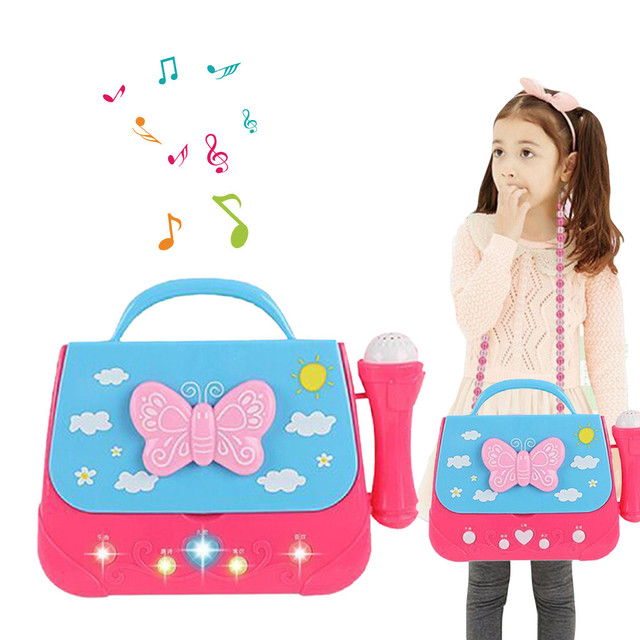 Vocal Toys Battery Operated Portable Singing Machine with Adorable Sing-Along Boom Box Educational Music Toys for Kids Gift T6#