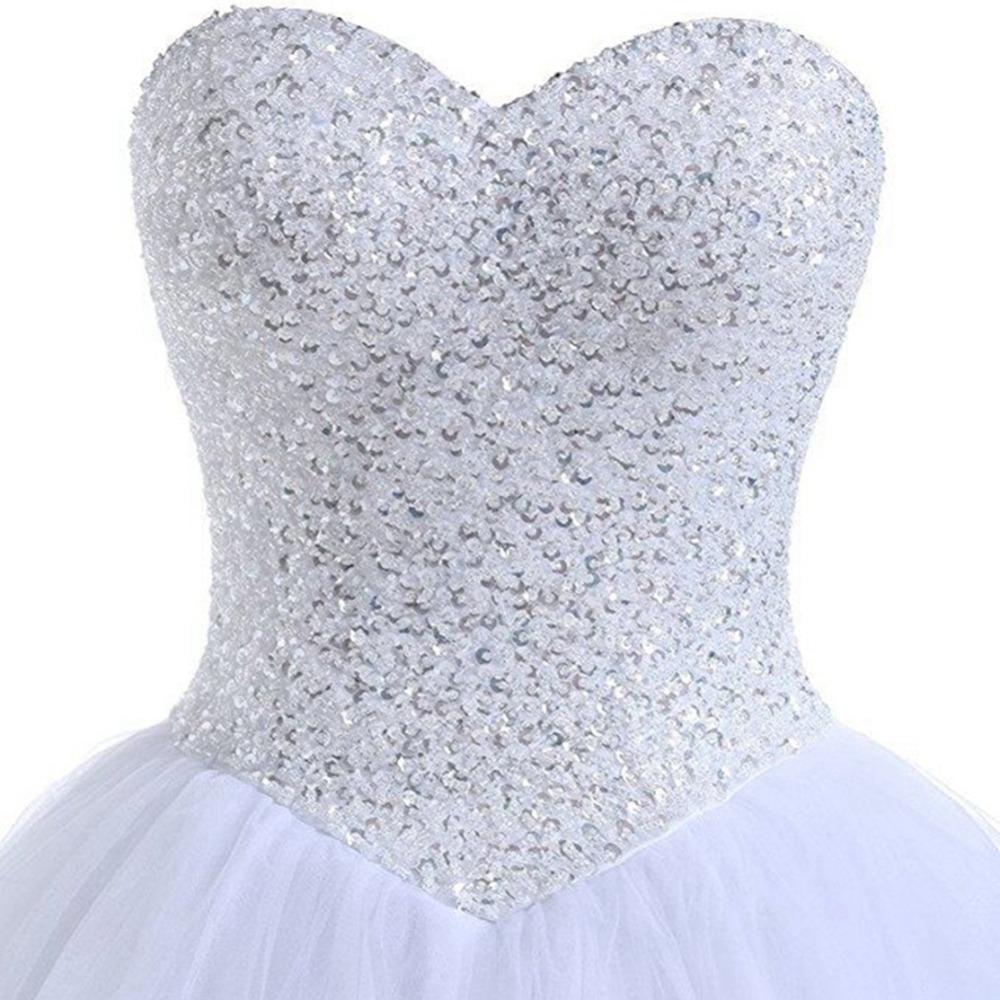 Image 3 - NOBLE WEISS Robe De Mariage Ball Gown White/Ivory Wedding Dresses Princess Luxury Beads Vestido De Noiva Casamento Bride Dress-in Wedding Dresses from Weddings & Events