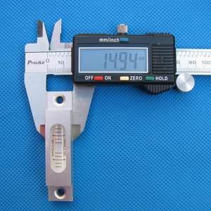 Image 4 - Haccury 크기 66*15*14mm 알루미늄 쉘은 장착 구멍이있는 총 스테이션 블리스 터 용 레벨 스피릿 레벨을 제출합니다.