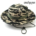 2016 Best Goods Men Sun Hat Fashion Outdoor Rounded Jungle Fisherman Hat Casual Camouflage Printed Cap Climbing Accessories