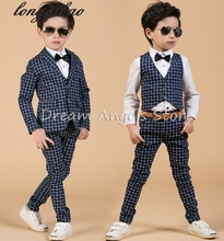 Fashion baby boys black and white casual blazers jacket boys suits for weddings formal flower boy clothing child kids prom suit