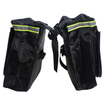 New Arrival 18L Waterproof Bicycle Rear Seat Trunk Bag 600D Polyste Outdoor Bike Saddle Panniers Bag Touring Black
