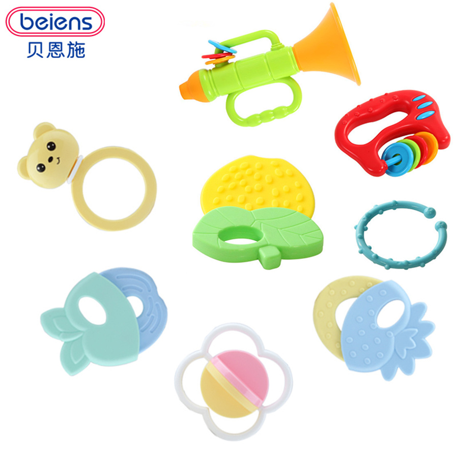 Baby Toys  Newborn Juguetes Hand Bell Rattle Ball Born Brinquedo Para Bebe Stro