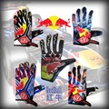 fashion full finger KTM motorcycle cycling gloves with red and bull design motocross gloves men