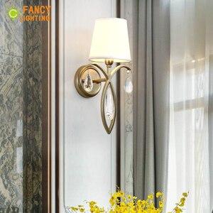 Image 5 - (E14 Glühlampe Für Freies) moderne wand lampe Eisen led wand licht für home/wohnzimmer wandlamp treppen led licht Stoff schatten Wandleuchter