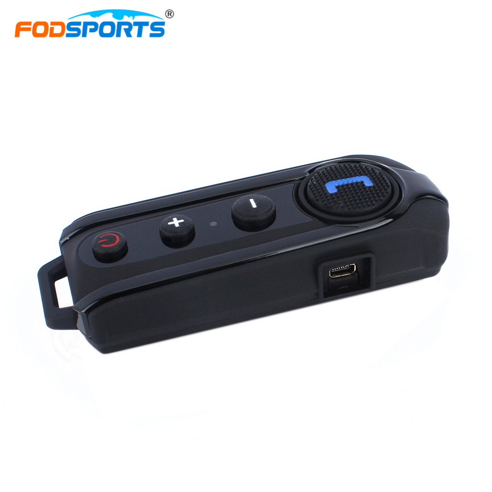 Fodsports BT-S1 Intercom Helmet Headsets Bluetooth Interphone Motorcycle Intercomunicador Stereo Music With FM Radio bt s2 pro motorcycle intercom helmet headsets wireless bluetooth interphone handsfree waterproof fm radio 7 languages manual