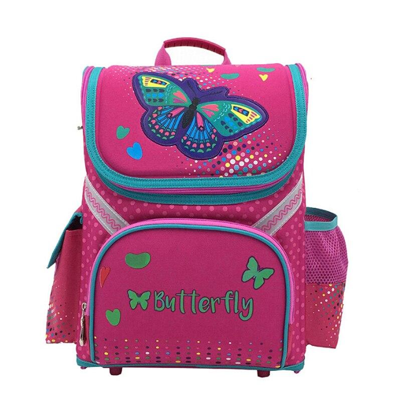 Новые детские кошка бабочка школьная сумка рюкзак EVA сложенные ортопедические дети мальчик и девочек рюкзак Mochila Infantil
