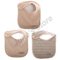 New 3PCS / Lot Baby Bibs Burp Cloths Scarf High Quality Organic Cotton Bib for Newborn Infant Toddler Kids Saliva Towel Baby Bib