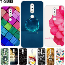 hot deal buy soft tpu case for nokia 6.1 plus case 5.8'' silicone back cover for coque nokia x6 2018 cover animal for nokia x 6 phone case