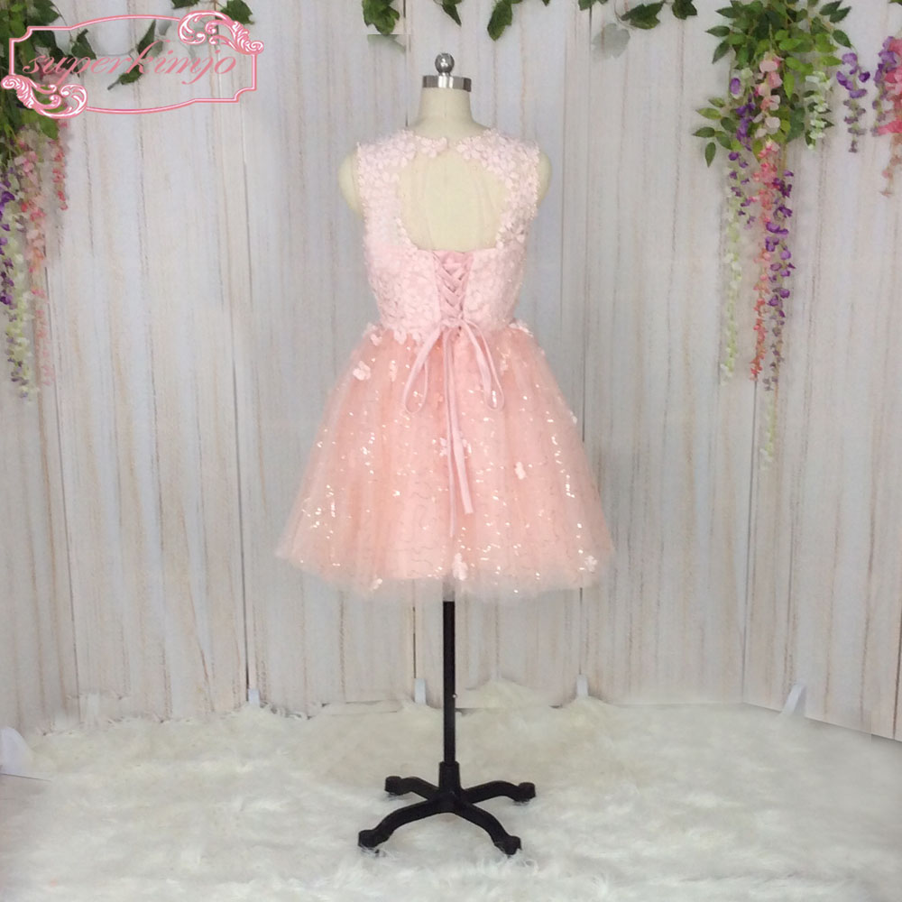 Superkimjo vestidos de 15 cortos Pink puffy Vestidos de fiesta corto ...