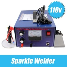 купить 110 voltage 50 flash welder welding machine good jewelry necklace is adjustable pulse welding spot welding machine goldsmith дешево
