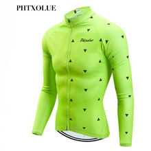 Phtxolue Winter Cycling Jersey Thermal Fleece Clothing Long Sleeve Bicycle Wear Bike Invierno Maillot Ciclismo