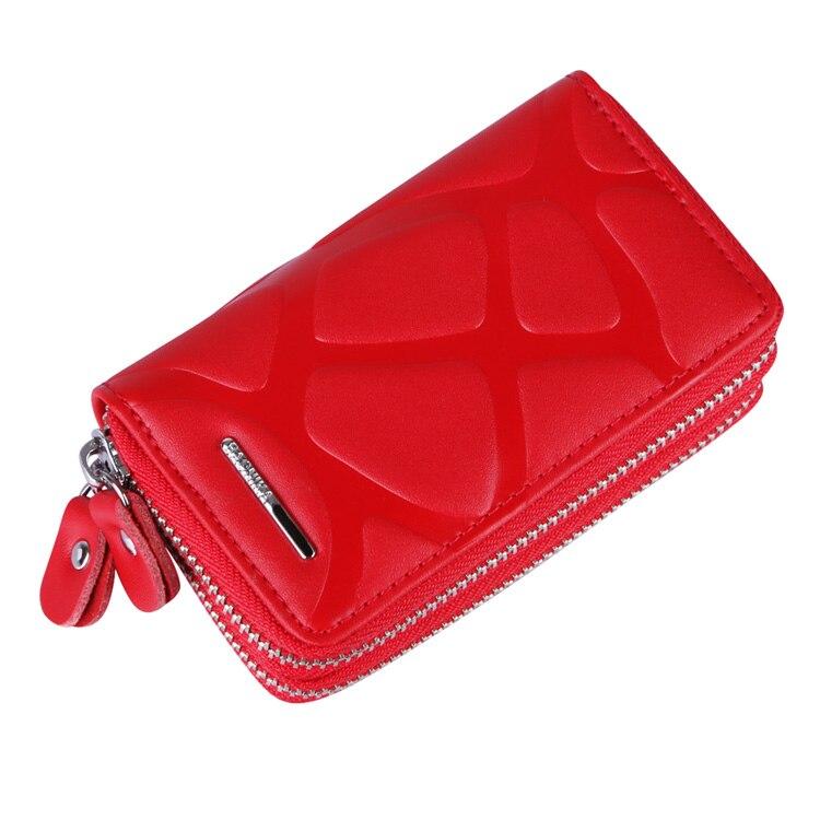 4 Colors Multifunction Bag Women & Men Genuine Cow Leather Key Holder Double Zipper Key Card Wallet Car Key Case,YK946