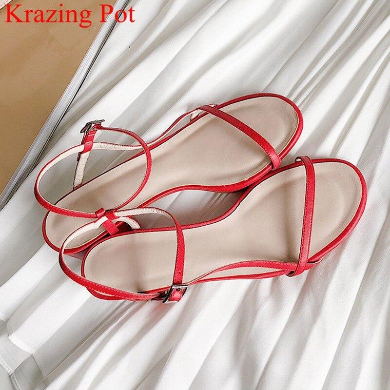 Krazing pot superstar peep toe boucle sangle haut talon élégant bureau dame femmes sandales discothèque concise fête chaussures d'été L71