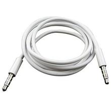 Универсальные автомобильные аксессуары 4 полюса 1 м 3,5 мм Мужской запись автомобиля Aux аудиошнур кабель для подключения наушников# MY