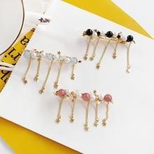 Korean Creative Metal Chain Star Tassel Hairpin Fashion Girl Womens Hair Accessories Beautiful Imitation Pearl Headwear
