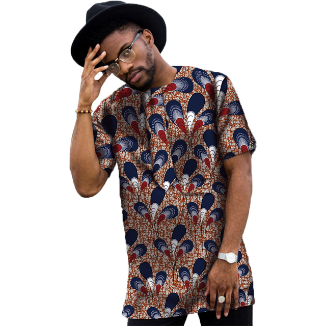 Conventional Dashiki Men Dress Fashion Print Short Sleeve Tops Man T shirt Africa Style Design Festive Costume African Clothes 5