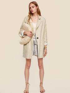 Haoduoyi Blazer Autumn Long-Sleeve HDY Loose Office-Style Lady Lapel One-Button New-Arrival