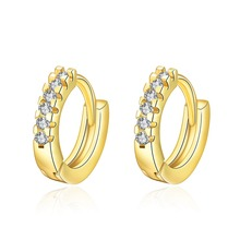 Hot Gold color&Rose gold color small hoop earrings Fashion jewelry wedding gift for woman Top quality E044(China)