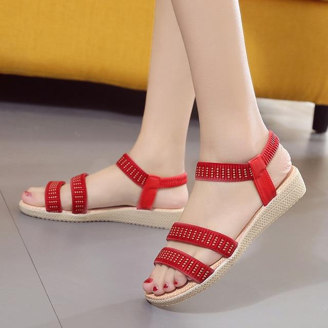 Women Shoes Sandals Comfort Sandals Summer Flip Flops 2017 Fashion High Quality Flat Sandals Gladiator Sandalias Mujer 2628W