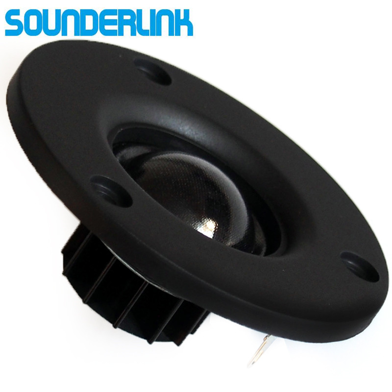 "2 Piece/lot Audio Labs HiFi silk soft Dome speaker tweeter unit 3"" inch unit 6 Ohm and 8 Ohm desktop monitor home theater Diy"