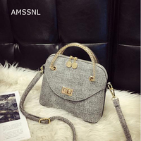 AMSSNL New Style Silt Pocket Japan And Korean Small Messenger Bags For Office Working Shopping Young