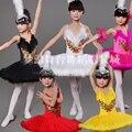 New Girls Ballet Clásico Tutu Niños Del Vestido de Ballet Del Lago Swan Traje del Funcionamiento de Los Niños Vestido de la Danza Del Ballet