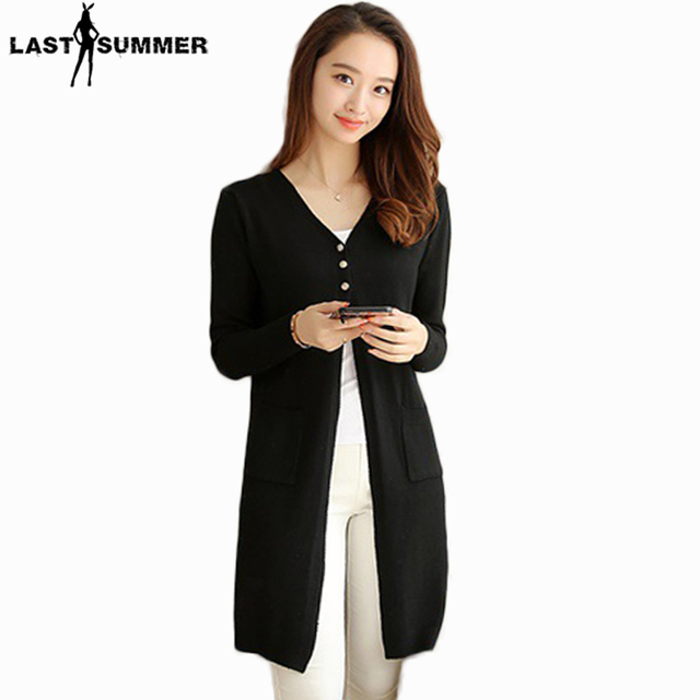 New Fashion Spring 2019 Women Sweaters Cardigans Casual Warm Long Design  Female Knitted Sweater Coat Cardigan Sweater Lady 426cd0409
