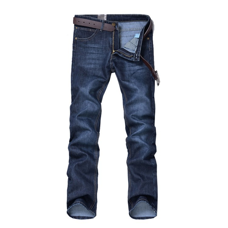 New Men Jeans Blue Denim Pants Straight Fashion Korean Style Slim Fit Casual Famous Brand Design Stretchy Denim Blue Big Size 38