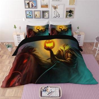 Pumpkin lantern bedding sets 3pcs quilt cover duvet cover pillow cases home textile good quality twin full queen king