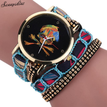 New Women Watches Rhinestone Skull Pattern Quartz Bracelet Lady Wrist Watch wholesaleF3