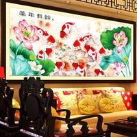 2017 New 5d Rhinestones Diy Mosaic Diamond Painting Cross Stitch round Resin Diamond Embroidery Koi Fish Animal 61183