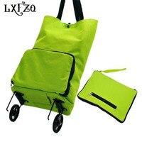 Fashion Folding Shopping Bag Bolsa Compra Portable Shopping Bags Reusable On Wheels Shopping Trolley Bag Truck