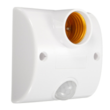 Lamp Base Standard AC 170V-250V LED Lamp Bulb Base Infrared IR Sensor Automatic Wall Light Holder Socket PIR Motion Detector