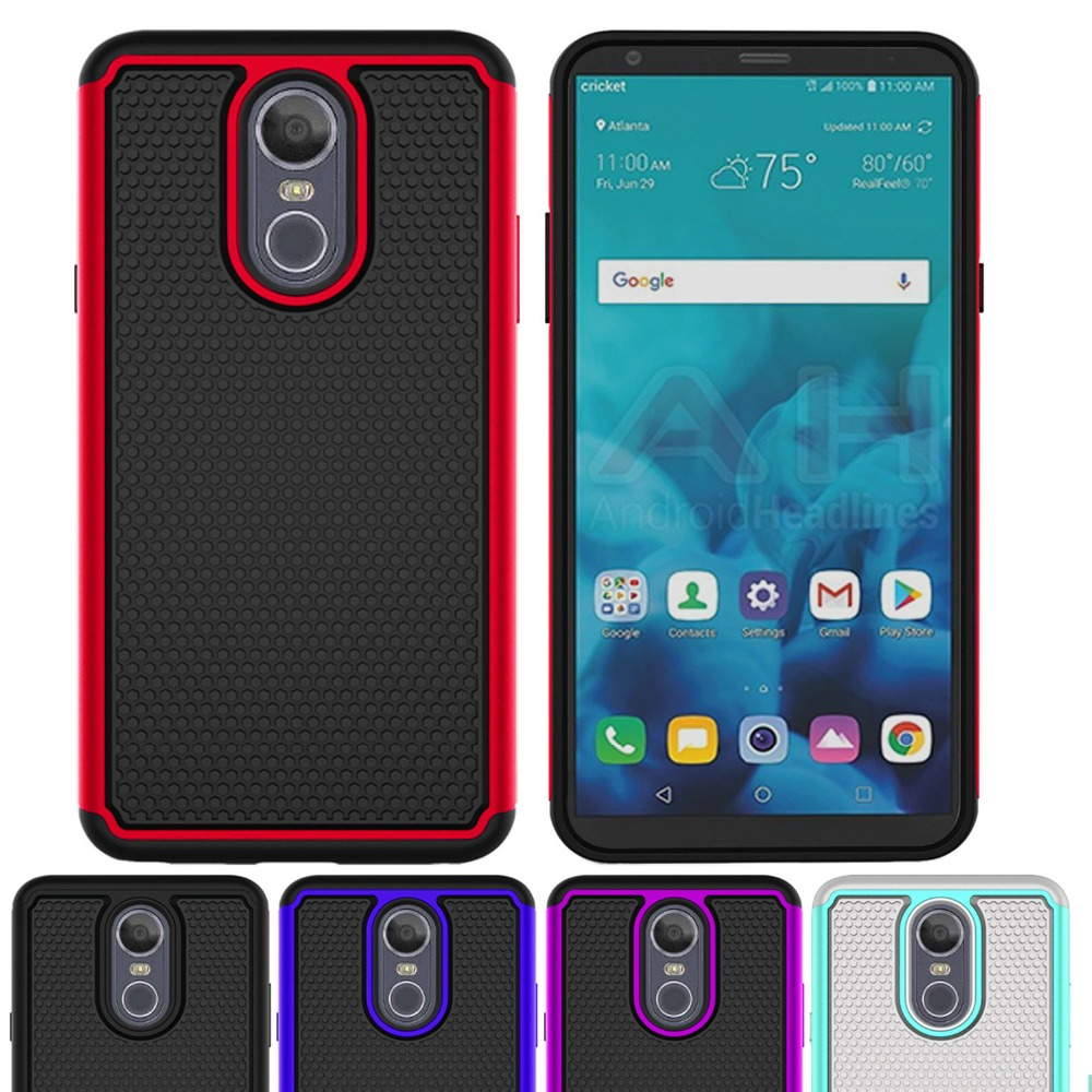 Hybrid Case For Lg K8 2018 Aristo 2 Soft Tpu Shockproof Tough Pc 2in1 Brushed Armor Hardcase In 1 Stylo 4 Q Plus