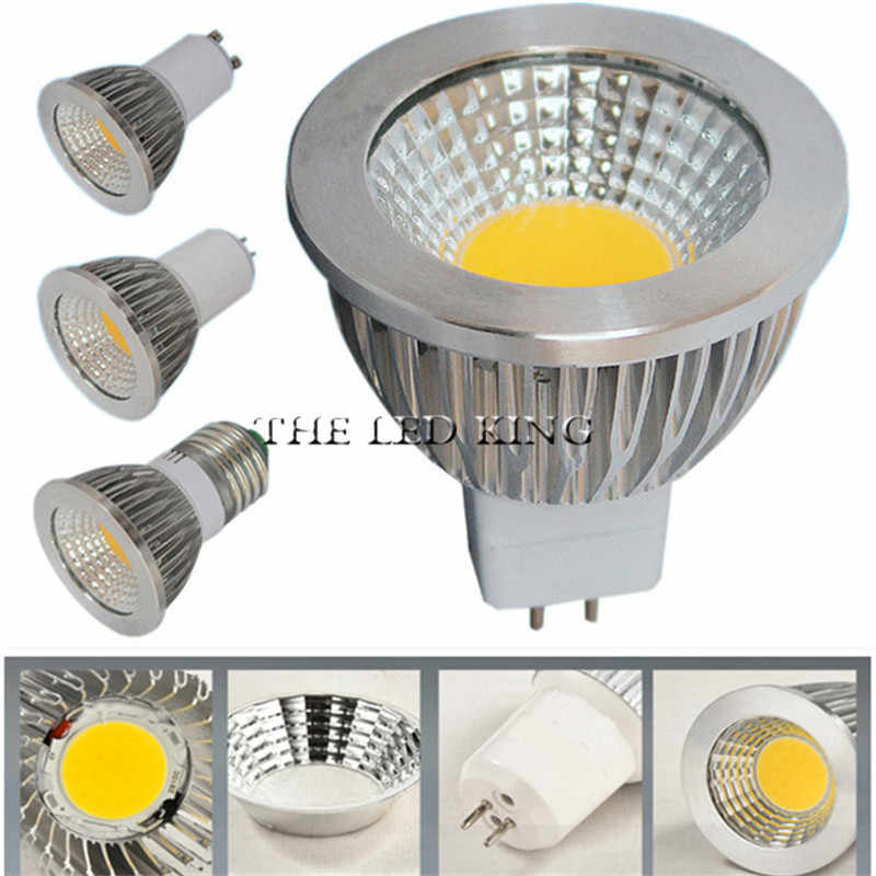 Dimmable COB LED Spotlight 220V GU10 LED Lamp E27 110V 3W 5W 7W AC 85-265V GU5.3 Spot Luz MR16 12V LED Bulbs E14 Home Lighting