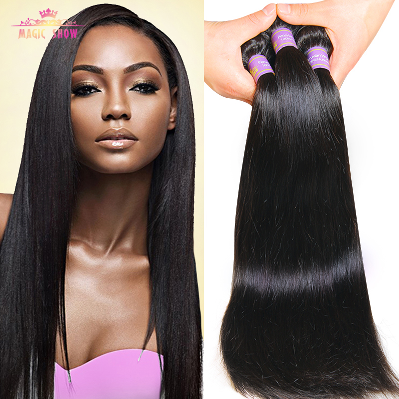 Cheap 7A Peruvian Virgin Hair Straight 3 Pcs lot ...