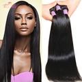 Cheap 7A Peruvian Virgin Hair Straight 3 Pcs lot Unprocessed Virgin Straight Hair bundles Peruvian human hair weave 8-30 inch